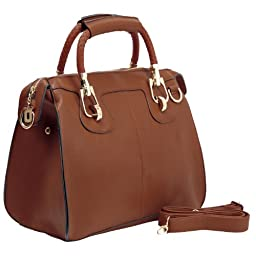 MG Collection Marissa Top Handle Doctor Shoulder Bag, Brown, One Size