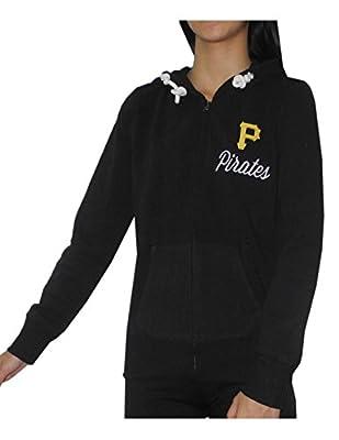 MLB Pittsburgh Pirates Womens Athletic Zip-Up Hoodie / Jacket