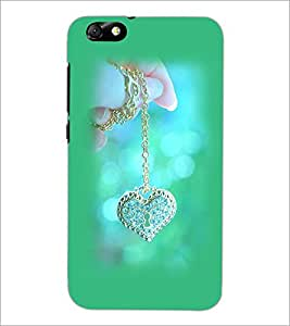 PrintDhaba Heart Pendent D-1978 Back Case Cover for HUAWEI HONOR 4X (Multi-Coloured)