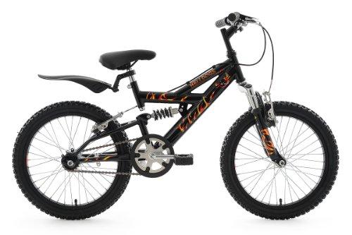 "KS Cycling Helldogs Vélo VTT Enfant Noir 18"" 32 cm"