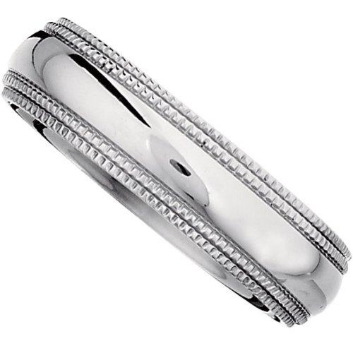Titanium Comfort Fit Double Milgrain Band Size 6.5