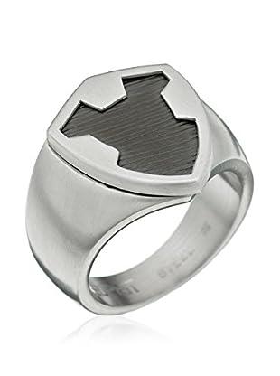 Esprit Steel Anillo Crest (Plateado / Negro)