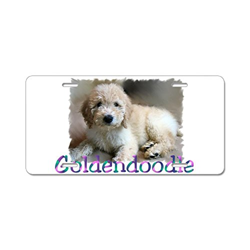 CafePress - Goldendoodle Aluminum License Plate - Aluminum License Plate, Front License Plate, Vanity Tag (Goldendoodle License Plate Frame compare prices)
