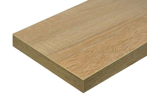 Regalwelt GmbH Regalwelt 9008-DL-SOE Design Livingboard, 80 x 25 x 3,8 cm, sonoma eiche