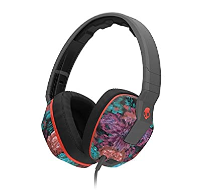 Skullcandy Crusher Headphones with Mic Granny Floral/Dark Gray/Red, One Size