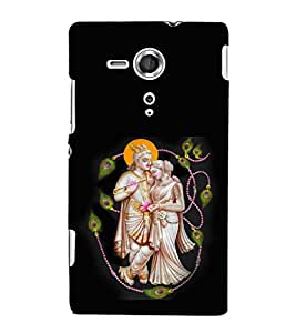 printtech Lord God Radha Krishna Back Case Cover for Sony Xperia SP::Sony Xperia SP M35h