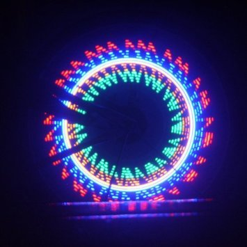 Waterproof Colorful Bicycle Bike Cycling Wheel Spoke Light 32 LED 32-pattern (blue 32 changes)