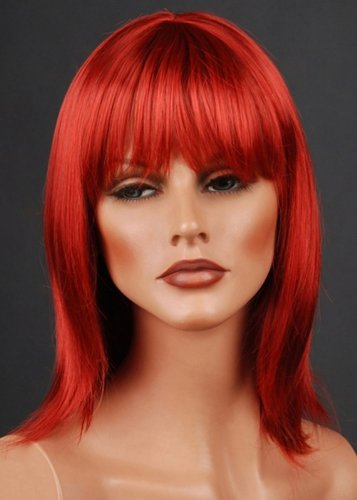 Brand New Light Red Female Wig Synthetic Hair For Ladies Personal Use Or Mannequin Display
