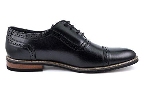 Men s modern oxford dress shoes cap toe lace up oxfords apparel