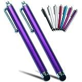 pm0503x2 First2savvv purple Touch screen stylus pen for apple iPhone 5C/5S & Samsung galaxy note 3 ,Galaxy NotePRO 12.2 ,Galaxy NotePRO 10.1,Galaxy NotePRO 8.4 SM-P900 & ipad mini & new ipad 3 & ipad 2 & ipad 4 with retina display &Apple iPad air