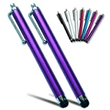 PM0503X2 First2savvv purple Touch screen stylus pen for iPhone 5C/5S & Amazon kindle fire HDX & Apple ipad air ipad mini with retinal display & Samsung galaxy note 3 ,Galaxy NotePRO & AMAZON Kindle fire HD 32GB 8.9 & iPhone 5& apple ipad mini &ipad 4 wit