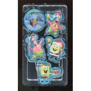Spongebob Squarepants ** Christmas Ornaments ** Set of 5 - 1