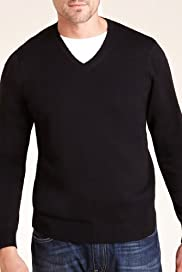 Blue Harbour Pure Cotton V-Neck Jumper [T30-5150B-S]