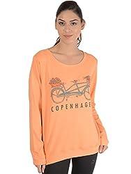 Bonhomie Women Sweatshirts [BONSW18_PEACH_Medium]
