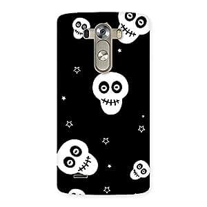 Cute Skull Star Back Case Cover for LG G3