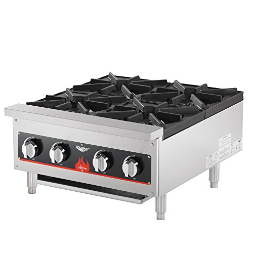 Vollrath 40737 4 Burner Counter Top Hot Plate / Range Natural / LP Gas (Anvil HPA1004)