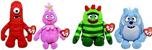 Yo Gabba Gabba 5quot TY Plush Beanie Babies - set of 4 Muno ToodeeBrobeeFoofa