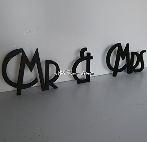 Gatsby style wedding sign Mr & Mrs. Mr Mrs sign for wedding table decoration. Signage Mr and Mrs (7 inches)