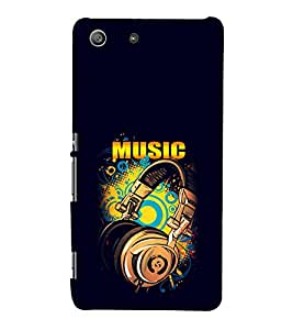 EPICCASE Beat that Music Mobile Back Case Cover For Sony Xperia M5 (Designer Case)