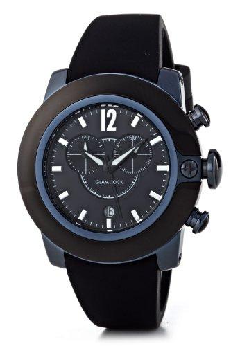 glam-rock-sb3003-sobe-montre-mixte-quartz-chronographe-cadran-noir-bracelet-silicone-noir