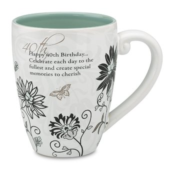 40th Birthday Mug, 4-3/4-Inch, 17-Ounce