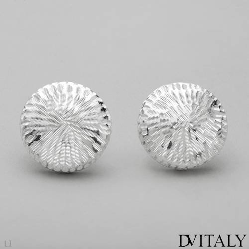DV ITALY Pleasant Stud Earrings in 925 Sterling silver. Total item weight 8.8g