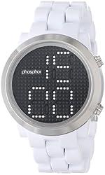 Phosphor Men's MD013G Swarovski Mechanical Digital Watch