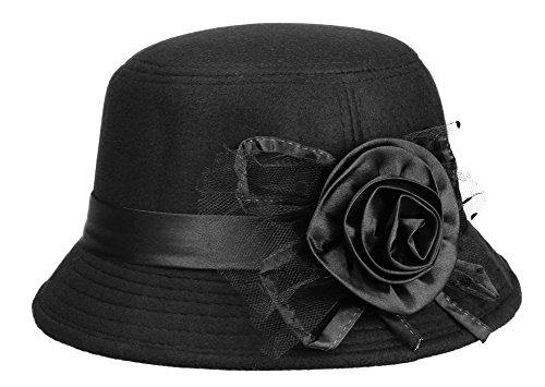 il-caldo-womens-fur-retro-winter-hat-fascinatorsblack