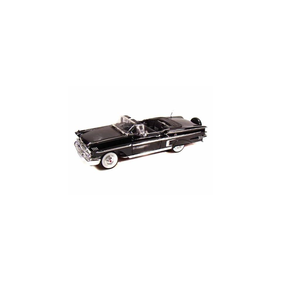 1958 Chevy Impala Convertible 1/18 Black