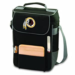 NFL Washington Redskins Duet Insulated 2-Bottle Wine and Cheese Tote, Black by Picnic Time