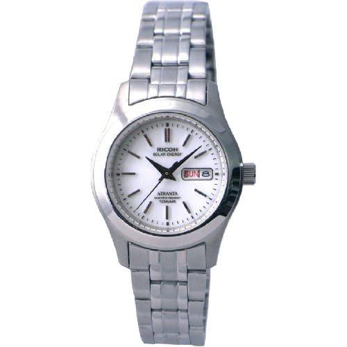 [リコー]RICOH 腕時計 ATRANTA(アトランタ) ソーラー充電 アナログ表示 スタンダード 10気圧防水 バーインデックス ホワイト 698004-13 レディース