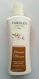 Yardley Essentials Moisturizing Body Wash, Almond Blossom, 7 Fl Oz