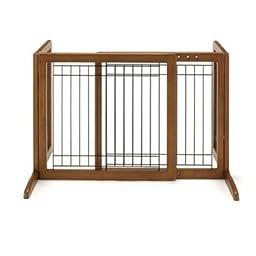 Richell 26-40 in. Wide Freestanding Pet Gate Small - 94135 - Autumn Matte