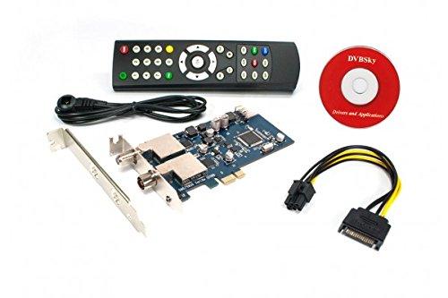DVBSky T9580 PCIe card with 1x DVB-S2 and 1x DVB-T2 / DVB-C Tuner