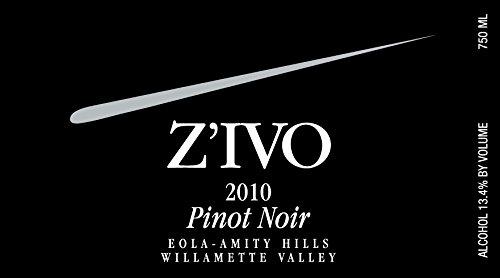 2010 Z'Ivo Willamette Valley Eola-Amity Hills Pinot Noir 750 Ml