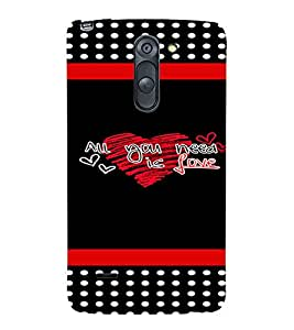 PrintVisa Love Quotes Design 3D Hard Polycarbonate Designer Back Case Cover for LG G3 STYLUS
