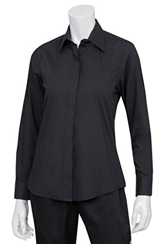 Chef Works W150-BLK-S Women's Dress Shirt, Black, Small (Chefs Work Shirt compare prices)