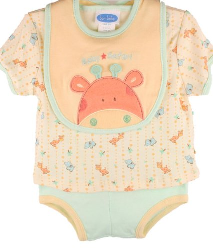 Bon Bebe Baby Boys Giraffe Creeper Set-6-9 Months back-1015257