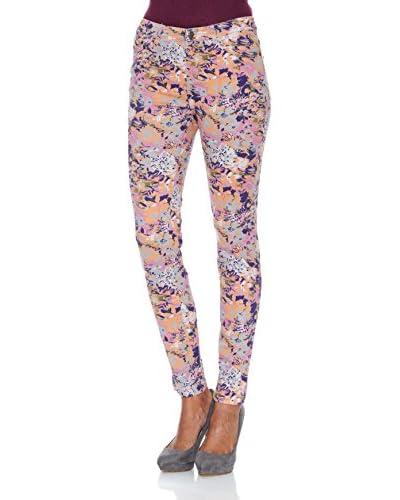 Cortefiel Pantalone Flores [Rosa]
