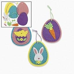 12 ~ Felt Egg Ornament Craft Kits ~ Approx. 3.5\
