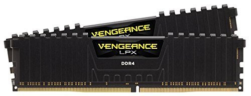 Corsair CMK8GX4M2B3000C15 Vengeance LPX Kit di Memoria RAM da 8 GB, 2x4 GB, DDR4, 3000 MHz, CL15 XMP 2.0 High Performance, Nero
