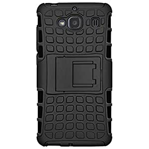 Kalgidhar eCom Rugged hock Proof Protective Rugged Armor Super Hybrid Heavy Duty Back Case Cover for Xiaomi Redmi 2 -Black