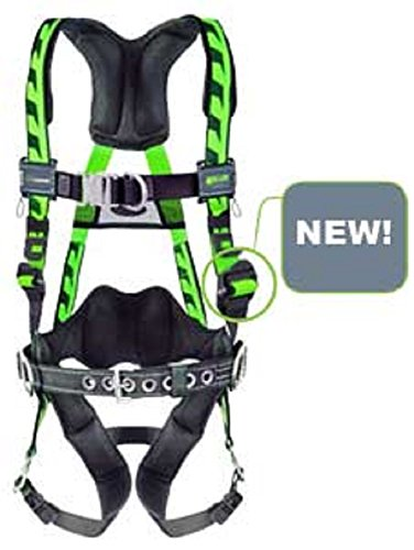 Miller® by Honeywell Large/X-Large DuraFlex® AirCore Vest-Style Oil And Gas Green Harness With Front And Back D-Rings, Rear Lumbar D-Ring, Matting Chest Strap Buckle And Tongue Leg Strap Buckle, Lumbar Pad, Removable Belt And Back D-Ring Extension (Miller D Ring Extension compare prices)