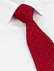 Machine Washable Rectangle & Spotted Tie