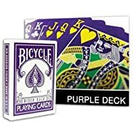 Bicycle Rider Back The Purple Deck wi…