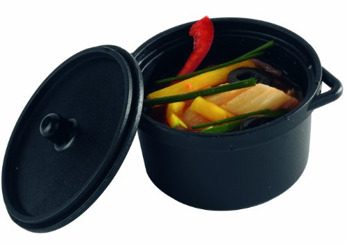Solia PS30390 Polypropylene Mini Cooking Pot with Lid, 3-Ounce Capacity, 2-51/64