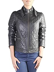 Theo & Ash Women Quilted Jacket (406L_Black_M)