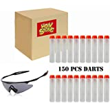 Holy Stone Glasses and 150 Pcs 7.2cm Elite Refill Pack White Foam Bullet Darts Series for Toy Gun