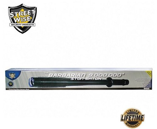 Streetwise Security Products Streetwise Barbarian 9,000,000-volt Stun Baton, Flashlight