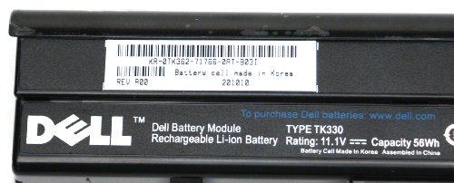 Genuine Dell TK362 XPS M1530 6-Cell 56Whr 5200mAh Rechargeable Li-ion Laptop Notebook Battery (Dell Xps M1530 Battery compare prices)